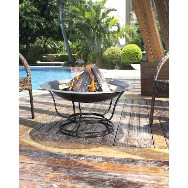 Outdoor Furniture - Mosaic Fire Pit - Black