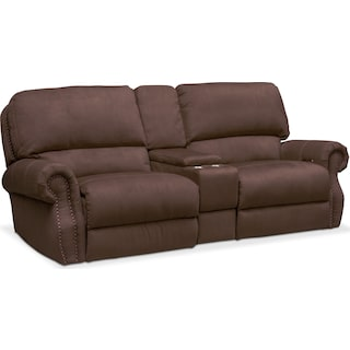 Dartmouth 3-Piece Power Reclining Sofa with Console - Mocha