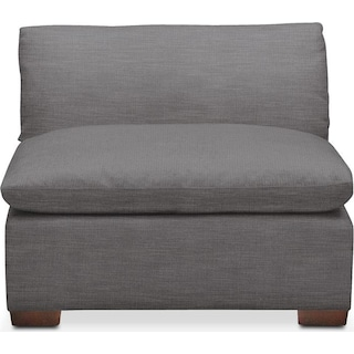 Plush Armless Chair- in Hugo Graphite