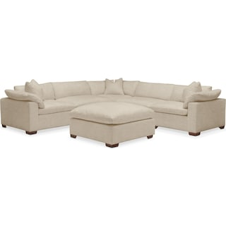 Plush 6 Pc. Sectional- in Depalma Taupe