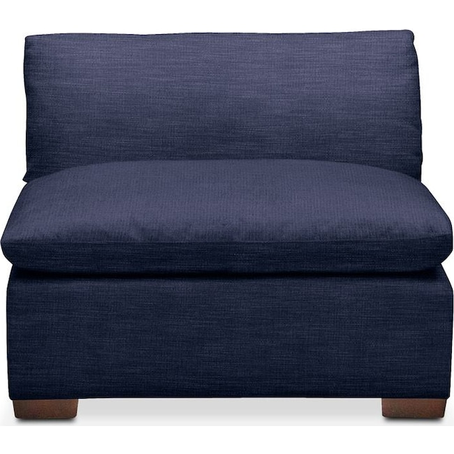 Living Room Furniture - Plush Armless Chair- in Oakley III Ink