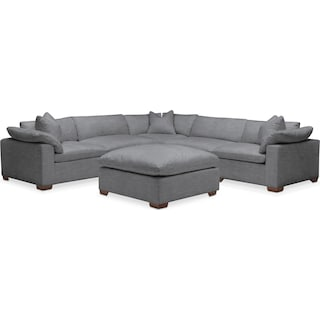 Plush 6 Pc. Sectional - in Depalma Charcoal