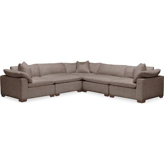 Plush 5 Pc. Sectional- in Hugo Mocha