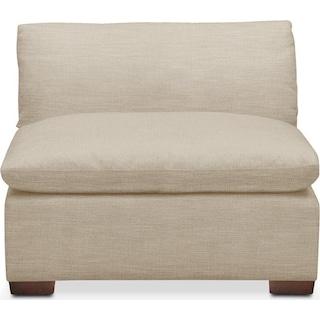 Plush Armless Chair- in Depalma Taupe