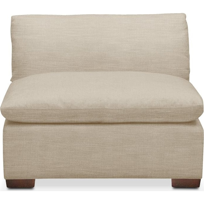 Living Room Furniture - Plush Armless Chair- in Depalma Taupe