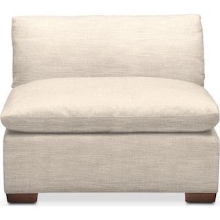 Plush Armless Chair- in Curious Pearl