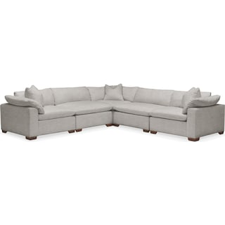 Plush 5 Pc. Sectional- in Dudley Gray