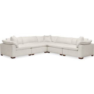 Plush 5 Pc. Sectional- in Anders Ivory