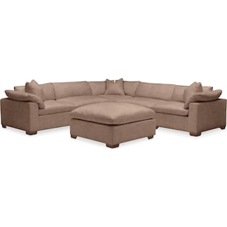 Plush 6 Pc. Sectional- in Abington TW Antler