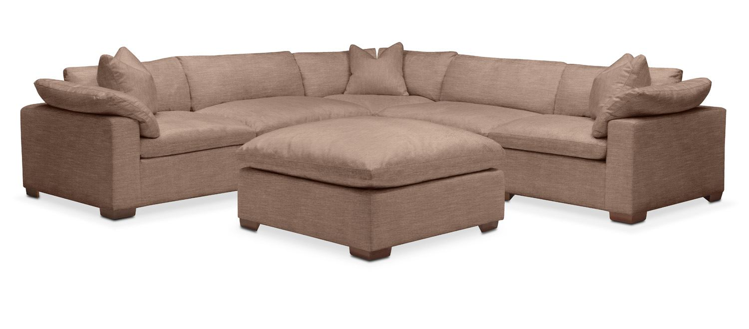 Plush 6 Pc. Sectional  In Abington TW Antler Part 73