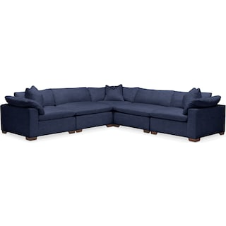 Plush 5 Pc. Sectional- in Oakley III Ink