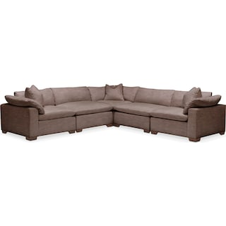 Plush 5 Pc. Sectional- in Oakley III Java