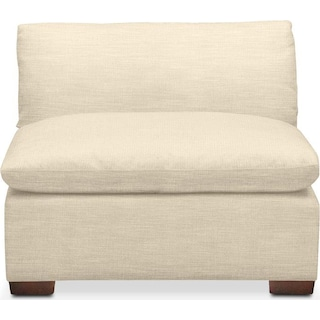 Plush Armless Chair- in Anders Cloud