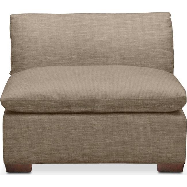 Living Room Furniture - Plush Armless Chair- in Statley L Mondo