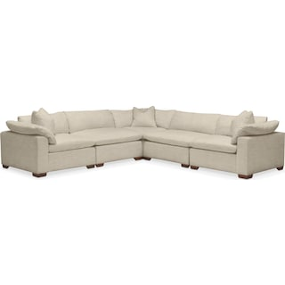 Plush 5 Pc. Sectional- in Abington TW Barley