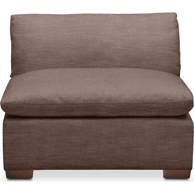 Living Room Furniture - Plush Armless Chair- in Oakley III Java