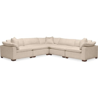 Plush 5 Pc. Sectional- in Dudley Buff