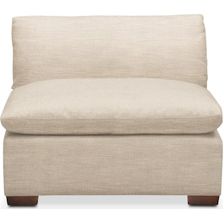 Plush Armless Chair- in Victory Ivory