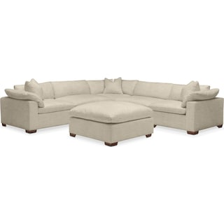 Plush 6 Pc. Sectional- in Abington TW Barley