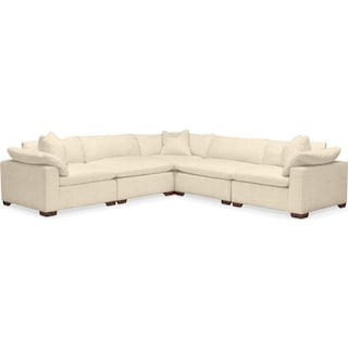 Plush 5 Pc. Sectional- in Anders Cloud