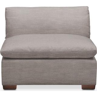 Plush Armless Chair- in Curious Silver Rine