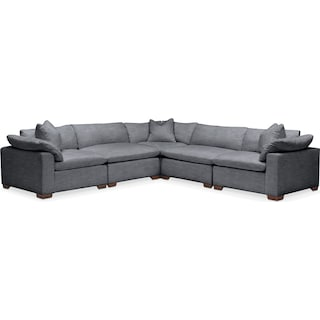 Plush 5-Piece Sectional - Millford II Charcoal