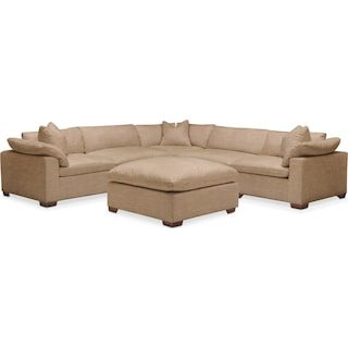 Plush 6 Pc. Sectional- in Hugo Camel