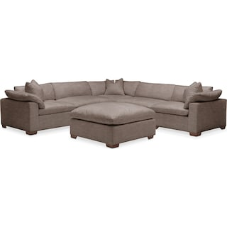 Plush 6 Pc. Sectional- in Hugo Mocha