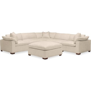 Plush 6 Pc. Sectional- in Victory Ivory