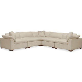 Plush 5 Pc. Sectional- in Depalma Taupe