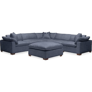 Plush 6 Pc. Sectional- in Curious Eclipse