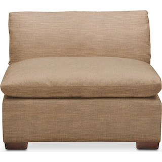 Plush Armless Chair- in Hugo Camel