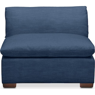 Plush Armless Chair- in Hugo Indigo