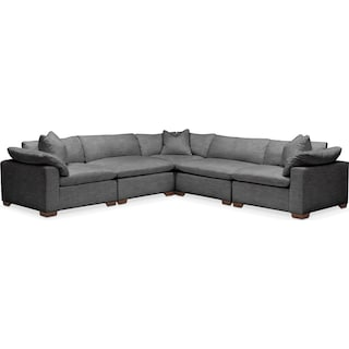 Plush 5 Pc. Sectional- in Curious Charcoal