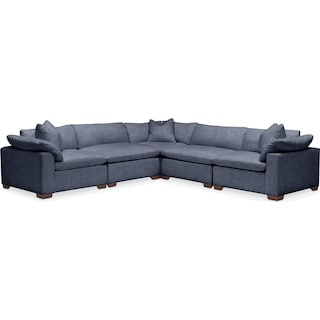 Plush 5 Pc. Sectional- in Curious Eclipse