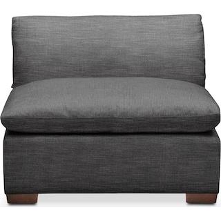 Plush Armless Chair - Curious Charcoal
