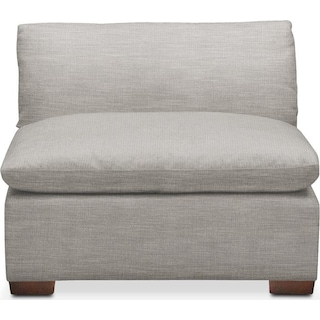 Plush Armless Chair- in Dudley Gray