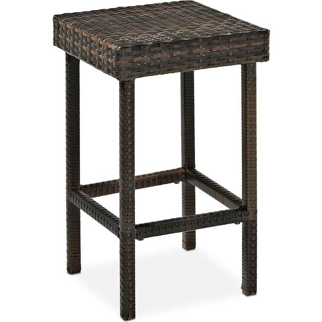 Outdoor Furniture - Aldo Outdoor Counter-Height Stool - Brown