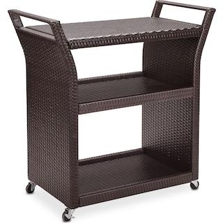 Aldo Outdoor Bar Cart - Brown