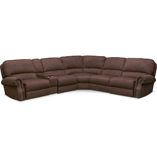Dartmouth 6-Piece Power Reclining Sectional with 2 Reclining Seats - Mocha