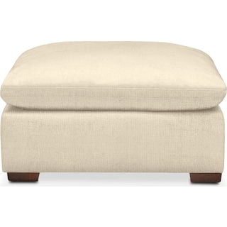Plush Ottoman- in Anders Cloud
