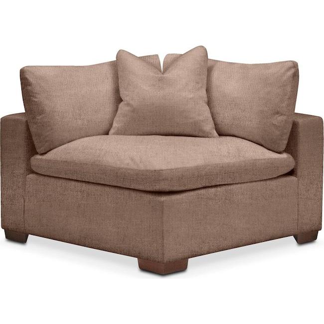 Living Room Furniture - Plush Corner Chair- in Abington TW Antler