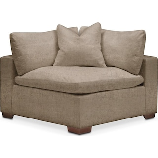Plush Corner Chair- in Statley L Mondo