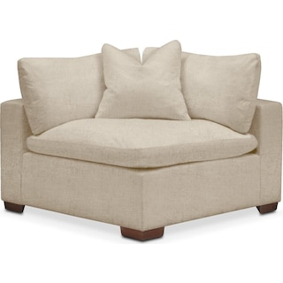 Plush Corner Chair- in Depalma Taupe