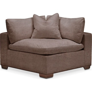 Plush Corner Chair- in Oakley III Java