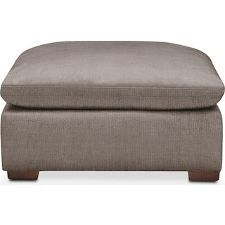 Plush Ottoman- in Oakley III Granite