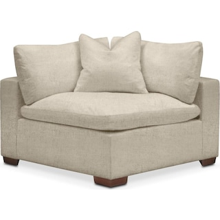 Plush Corner Chair- in Abington TW Barley