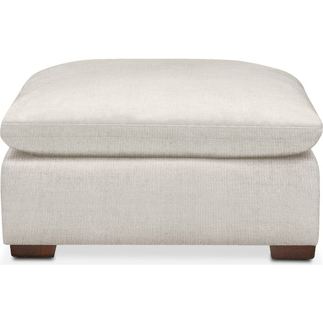 Living Room Furniture - Plush Ottoman- in Anders Ivory