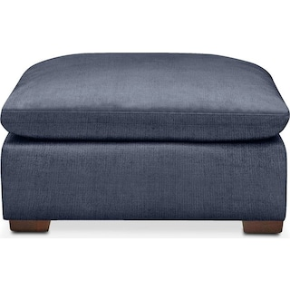 Plush Ottoman- in Curious Eclipse