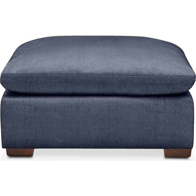 Living Room Furniture - Plush Ottoman- in Curious Eclipse